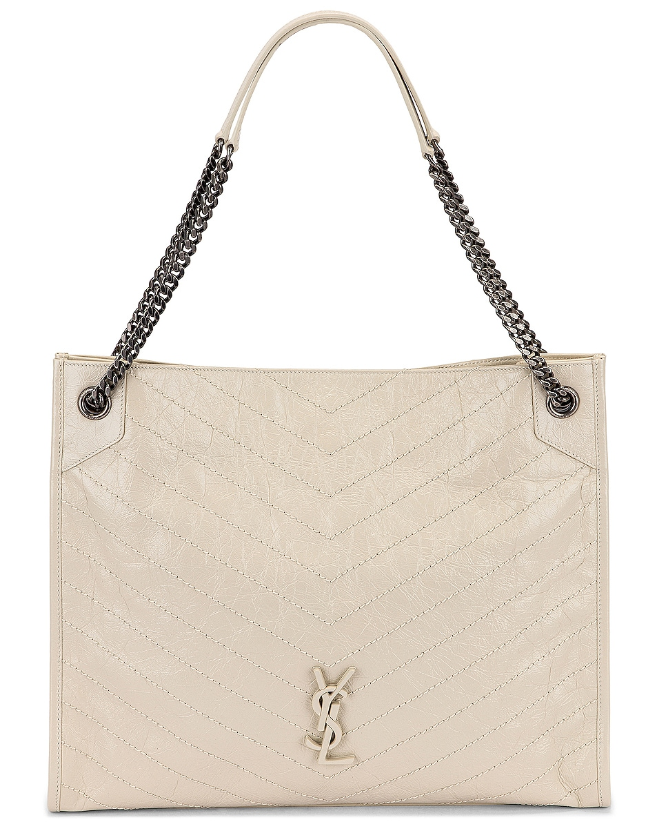 Image 1 of Saint Laurent Monogramme Niki Shoulder Bag in Crema Soft