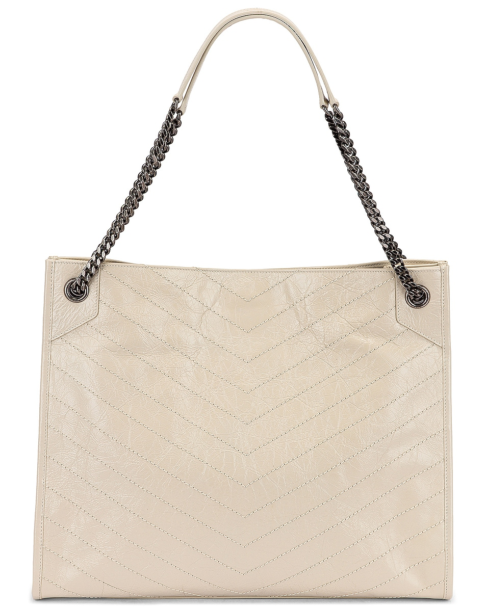 Image 3 of Saint Laurent Monogramme Niki Shoulder Bag in Crema Soft