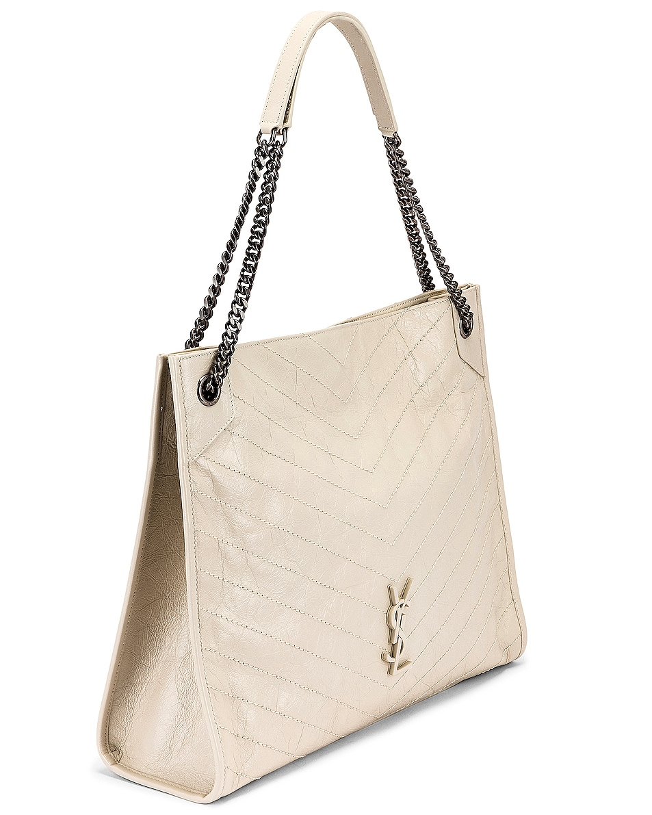 Image 4 of Saint Laurent Monogramme Niki Shoulder Bag in Crema Soft