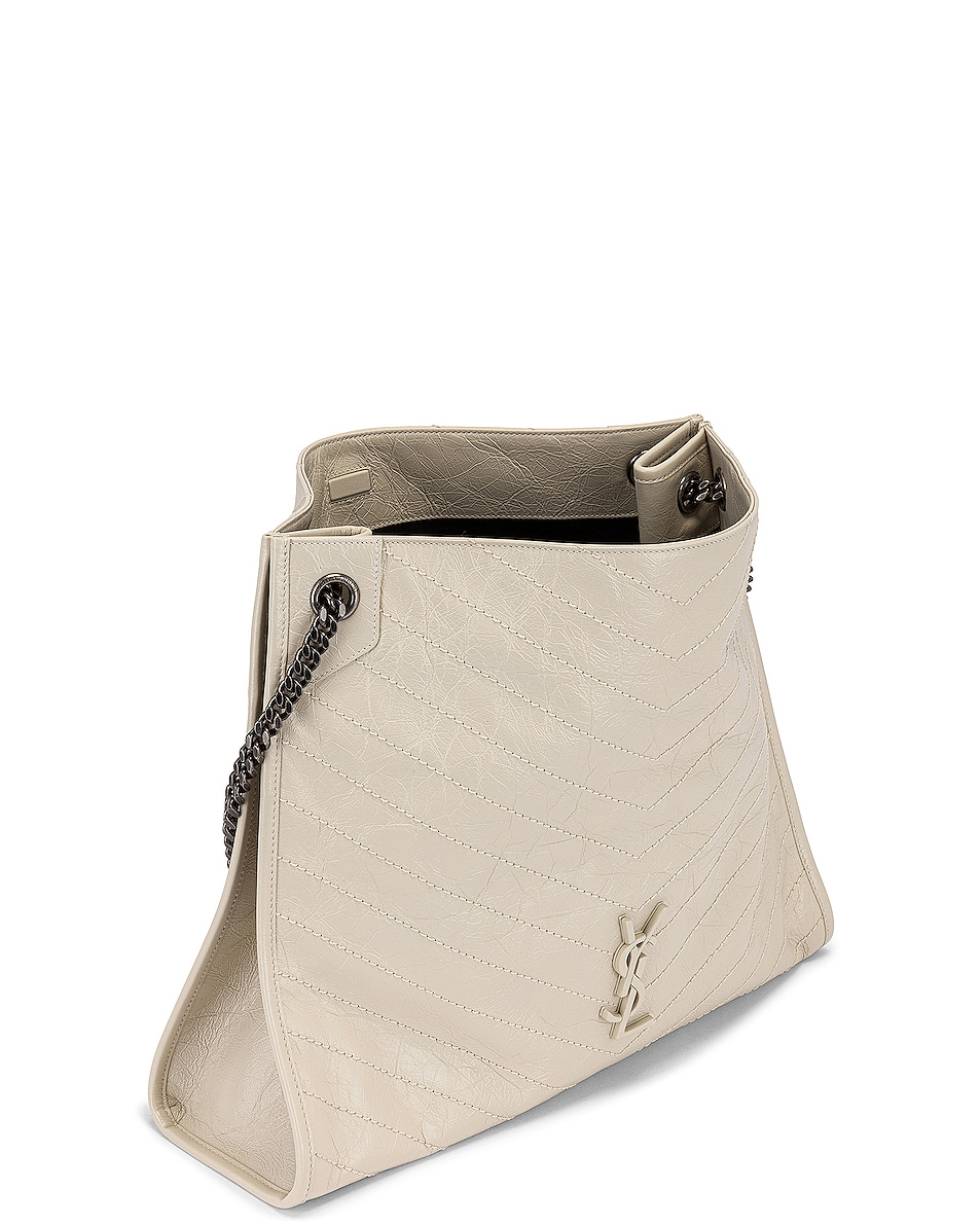 Image 5 of Saint Laurent Monogramme Niki Shoulder Bag in Crema Soft
