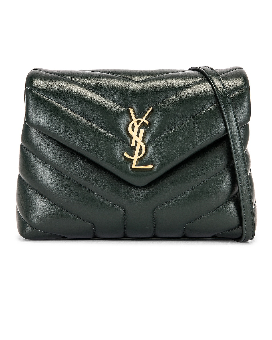 Image 1 of Saint Laurent Monogramme Pouch Bag in Dark Mint