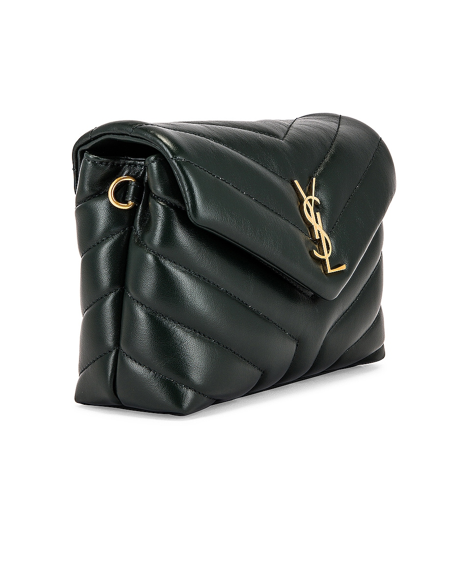 Image 4 of Saint Laurent Monogramme Pouch Bag in Dark Mint