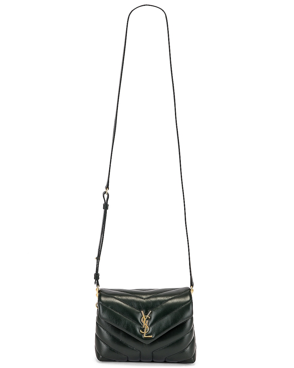 Image 6 of Saint Laurent Monogramme Pouch Bag in Dark Mint