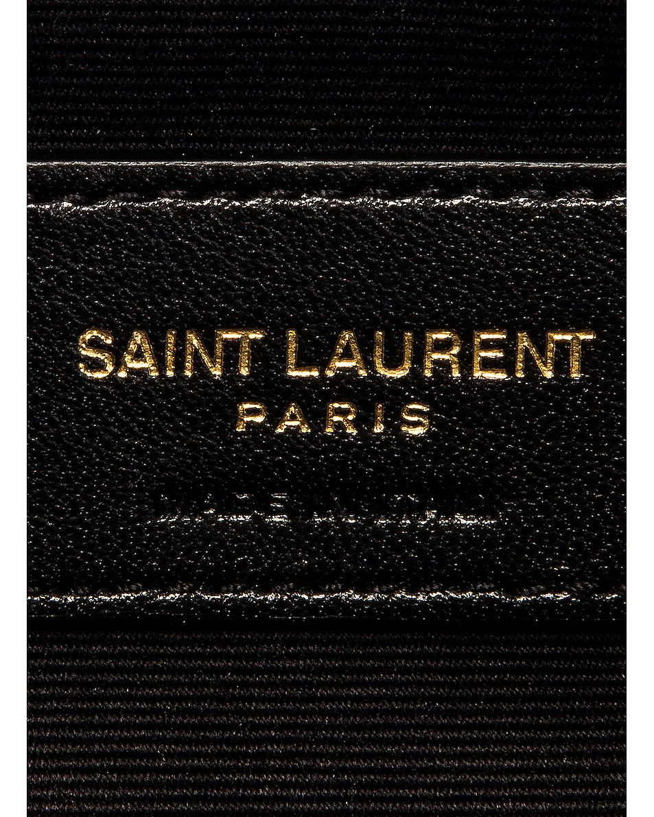 Image 7 of Saint Laurent Monogramme Pouch Bag in Dark Mint