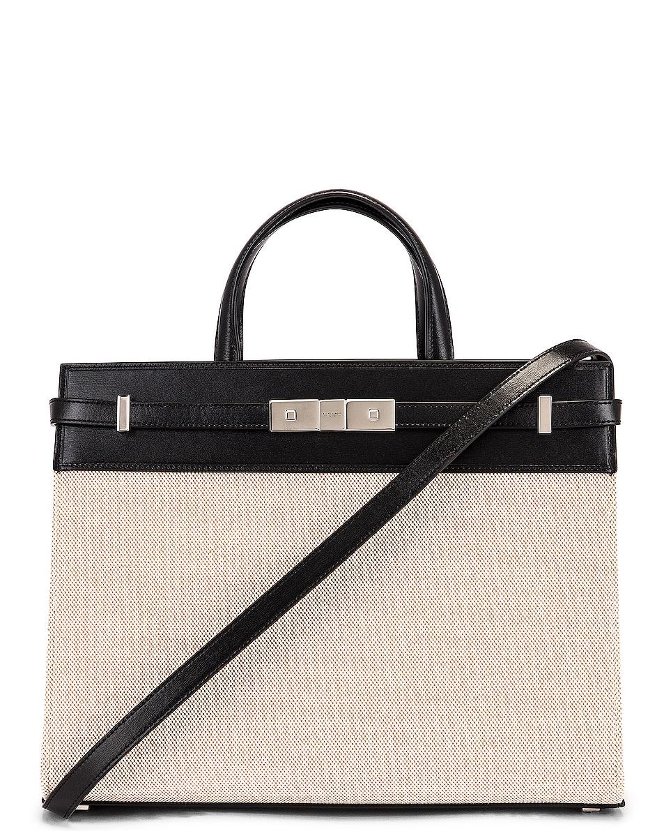 Image 1 of Saint Laurent Small Manhattan Bag in Natural & Beige & Black