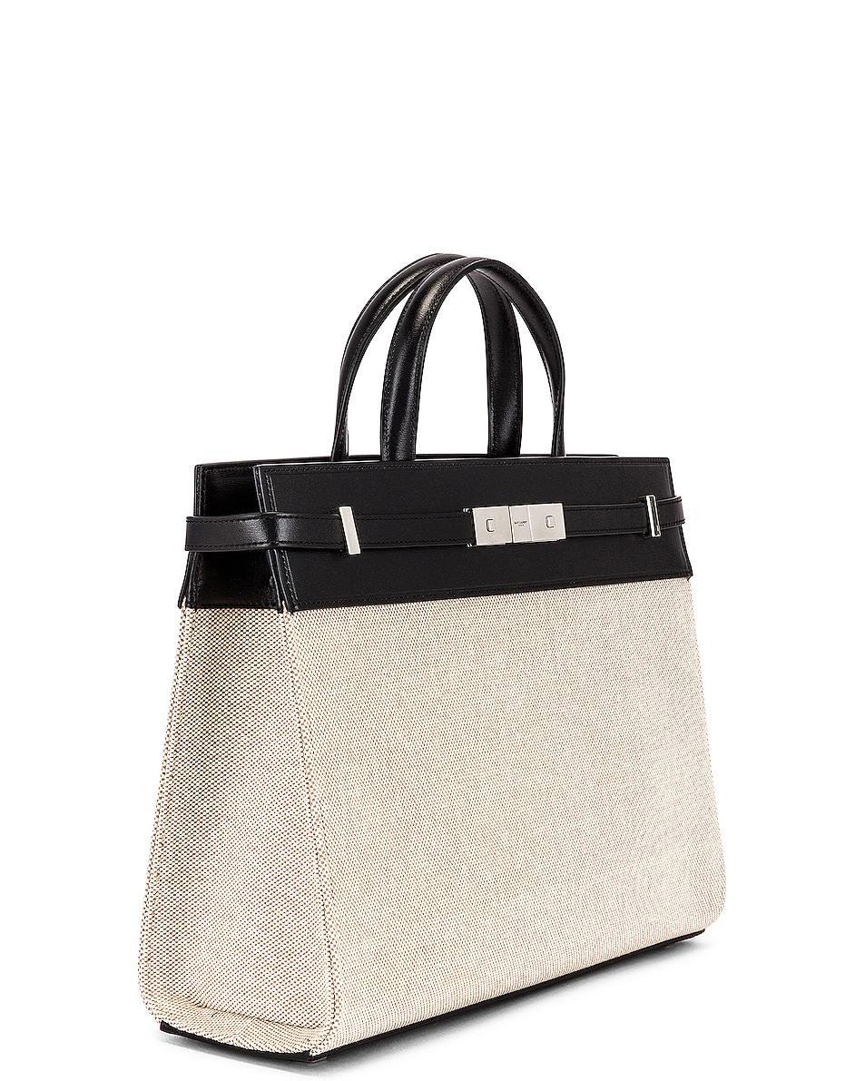 Image 4 of Saint Laurent Small Manhattan Bag in Natural & Beige & Black