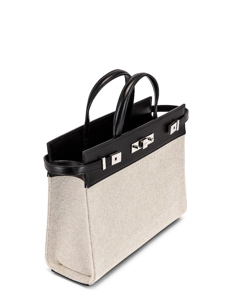 Image 5 of Saint Laurent Small Manhattan Bag in Natural & Beige & Black