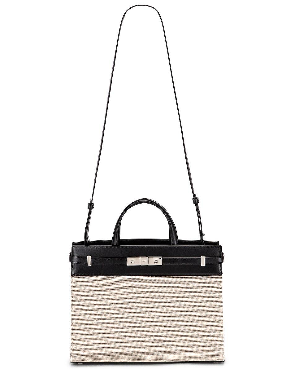 Image 6 of Saint Laurent Small Manhattan Bag in Natural & Beige & Black