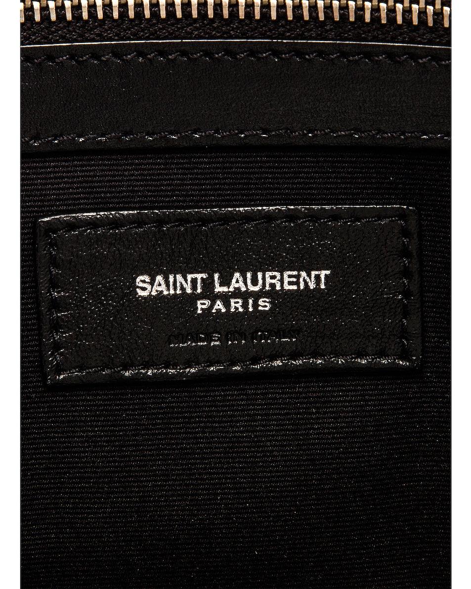 Image 7 of Saint Laurent Small Manhattan Bag in Natural & Beige & Black