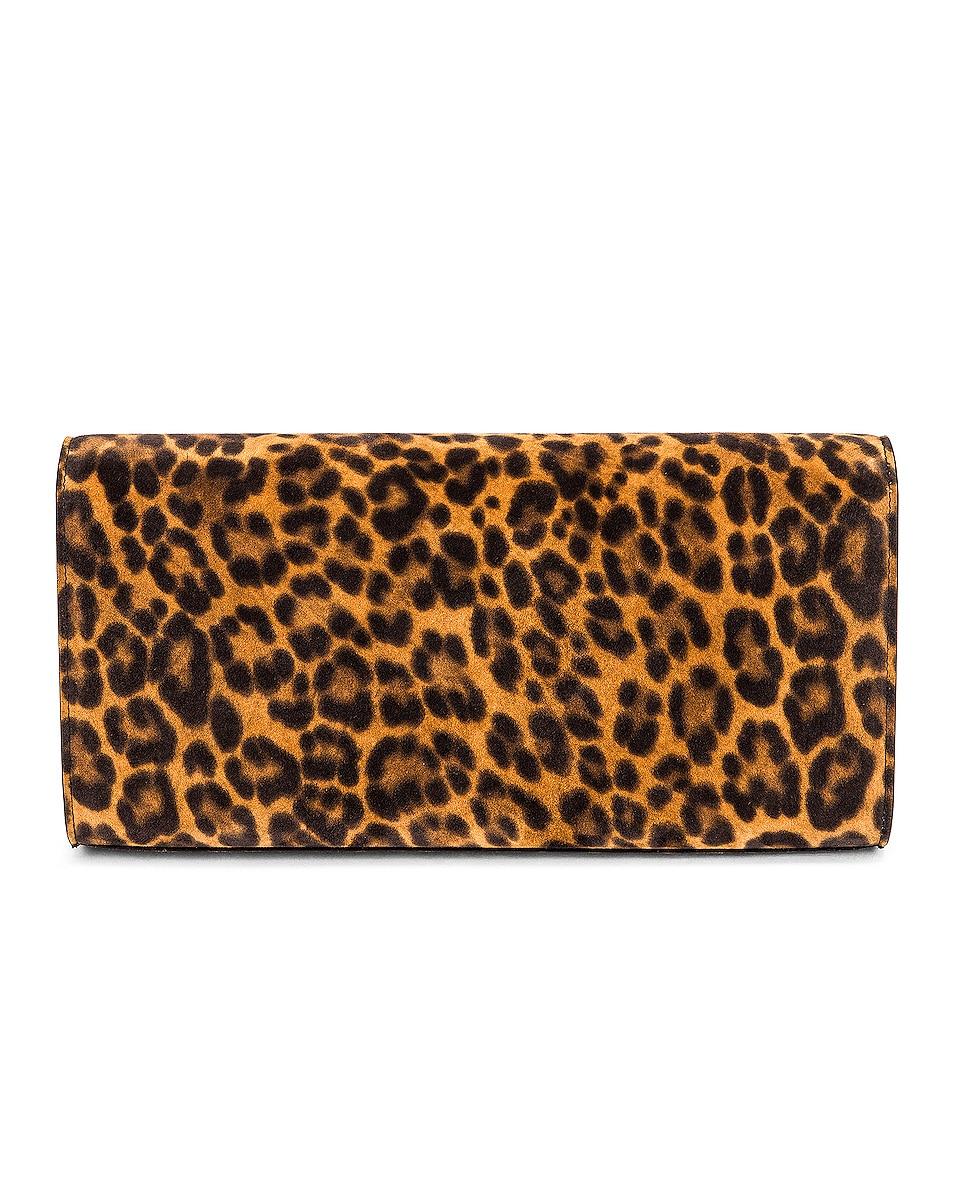 Image 3 of Saint Laurent Kate Leopard Clutch in Manto Naturale