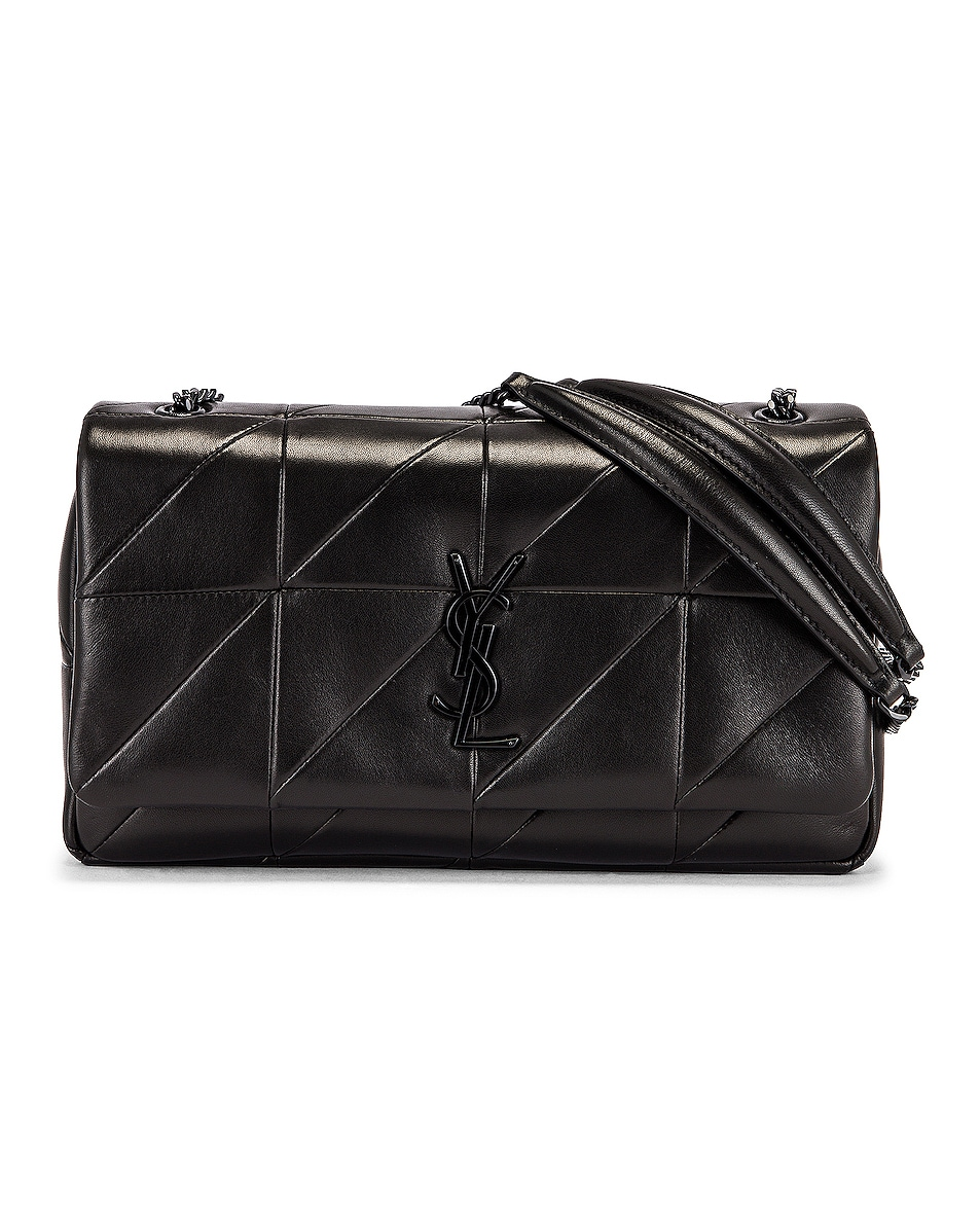 Image 1 of Saint Laurent Medium Jamie Monogramme Chain Bag in Black