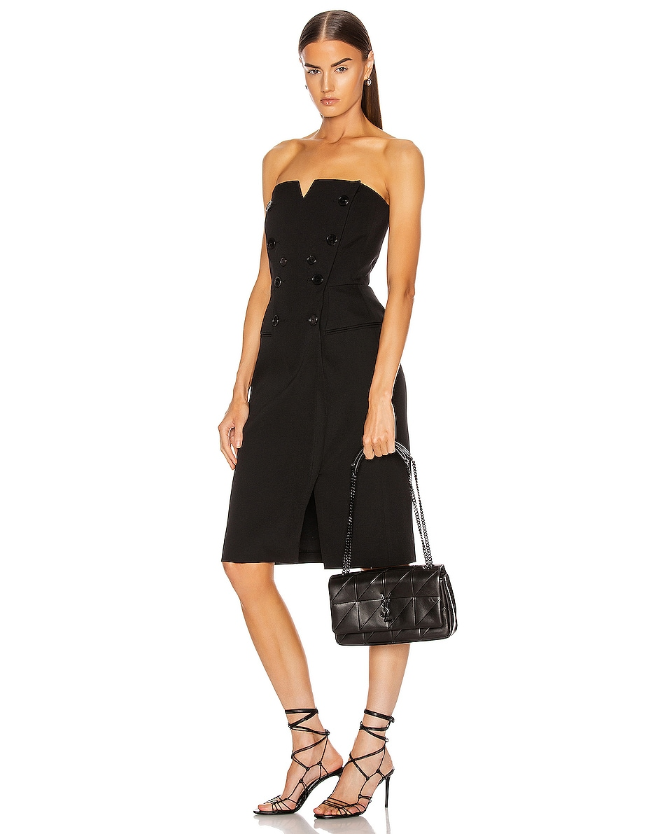 Image 2 of Saint Laurent Medium Jamie Monogramme Chain Bag in Black