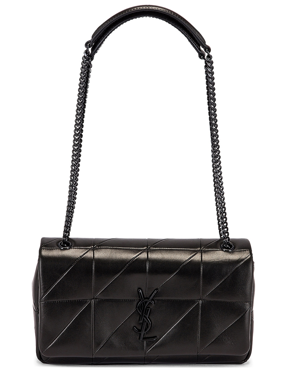 Image 6 of Saint Laurent Medium Jamie Monogramme Chain Bag in Black