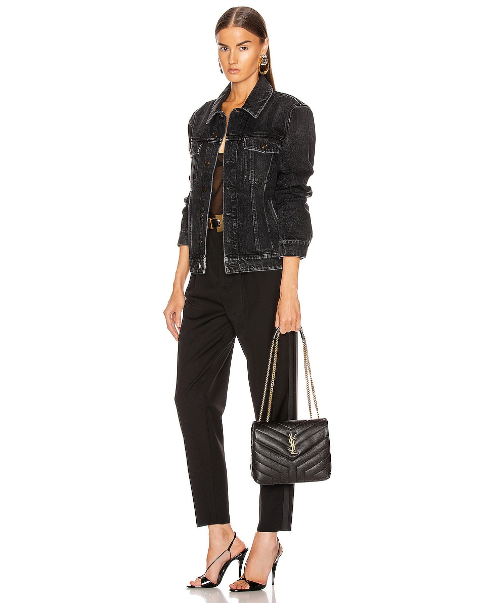 Image 2 of Saint Laurent Small LouLou Monogramme Bag in Black