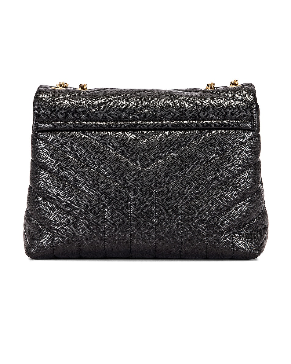Image 3 of Saint Laurent Small LouLou Monogramme Bag in Black