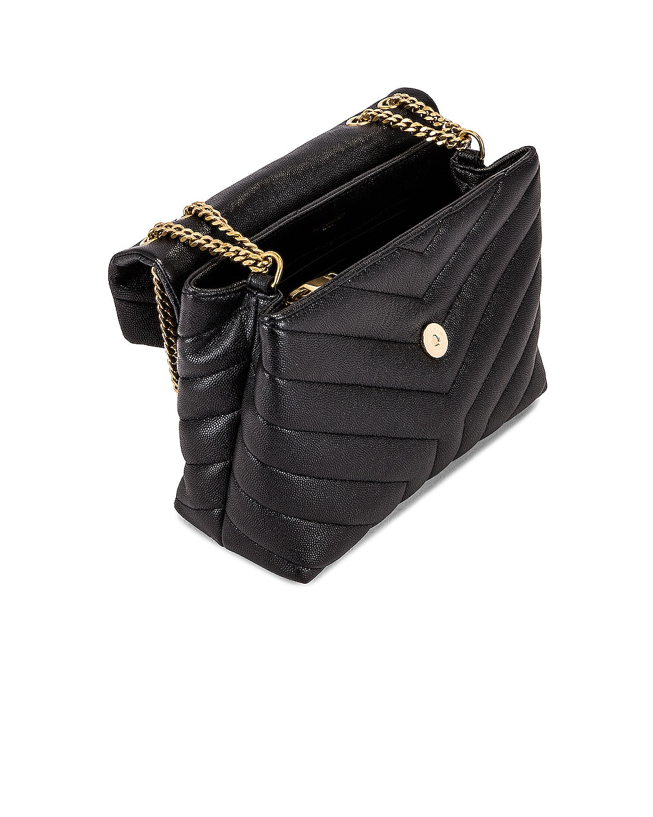 Image 5 of Saint Laurent Small LouLou Monogramme Bag in Black