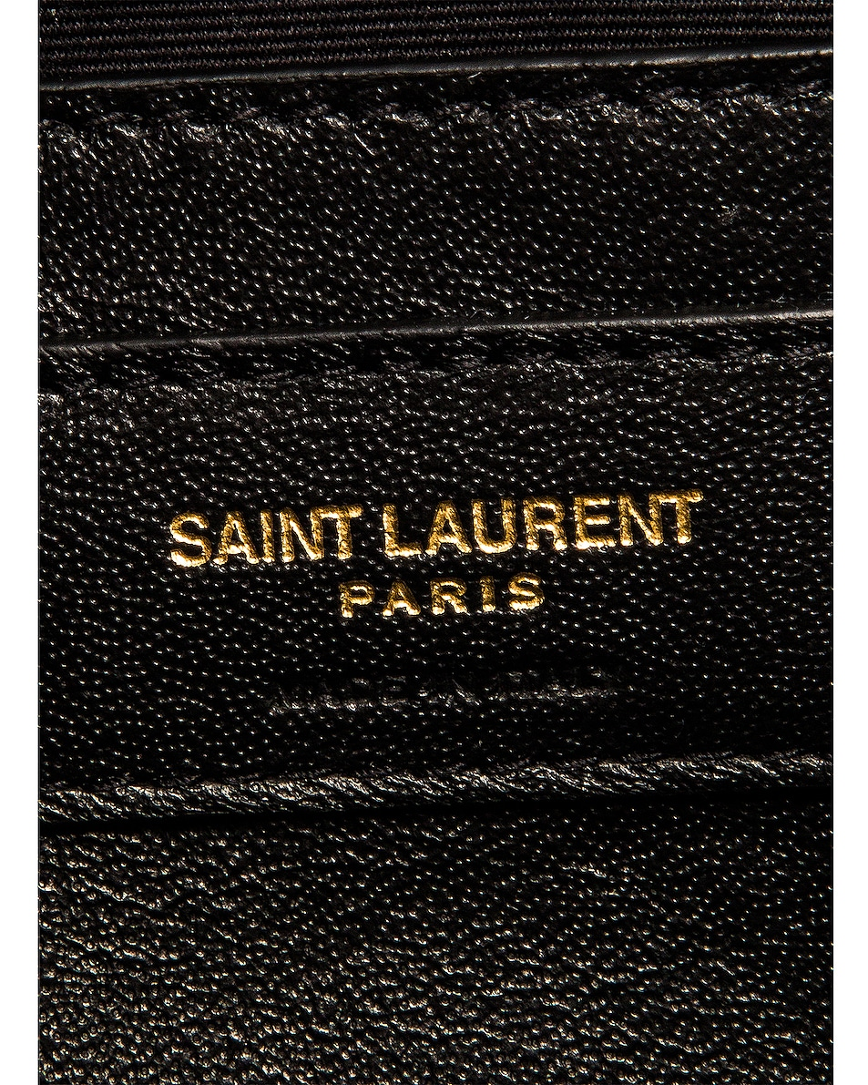 Image 7 of Saint Laurent Small LouLou Monogramme Bag in Black