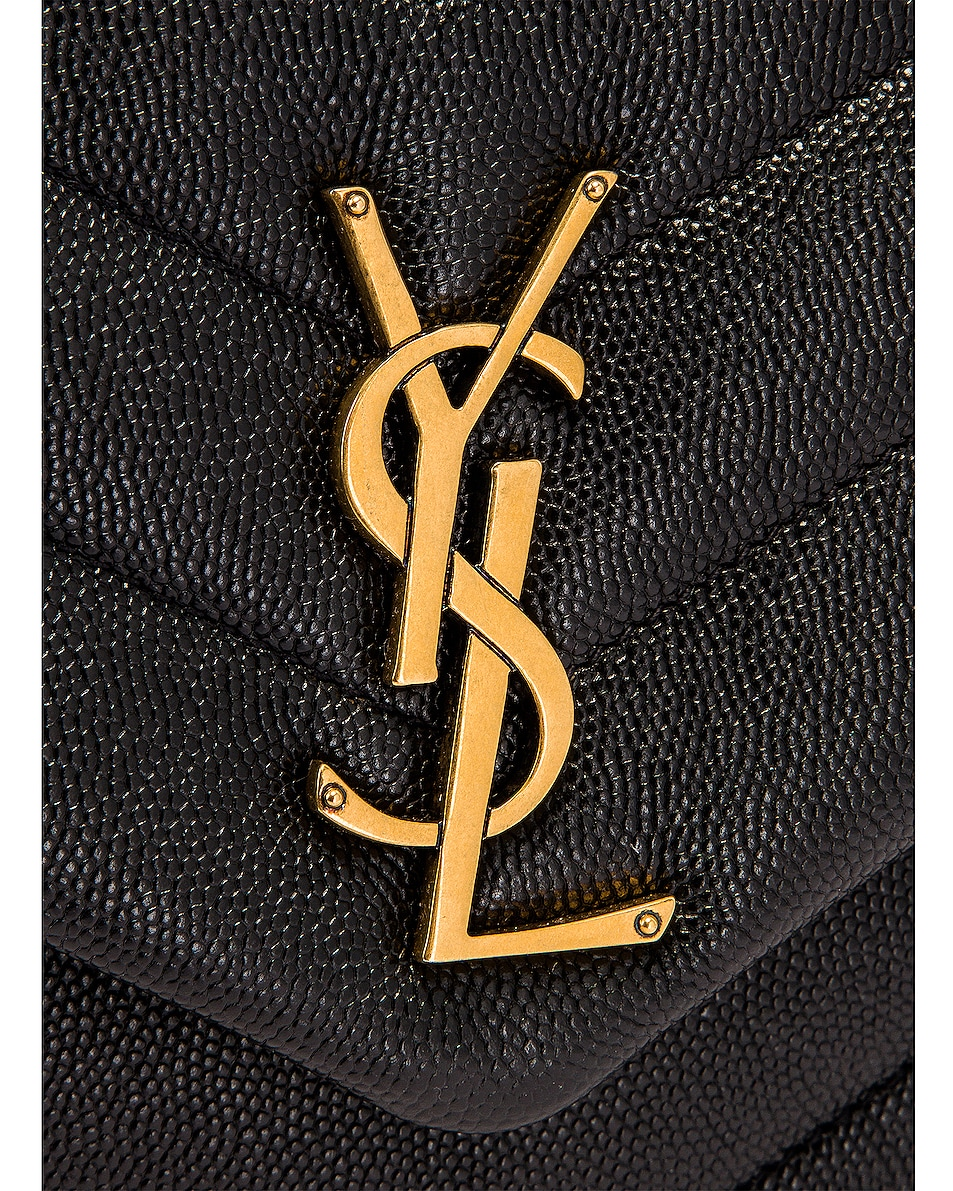Image 8 of Saint Laurent Small LouLou Monogramme Bag in Black