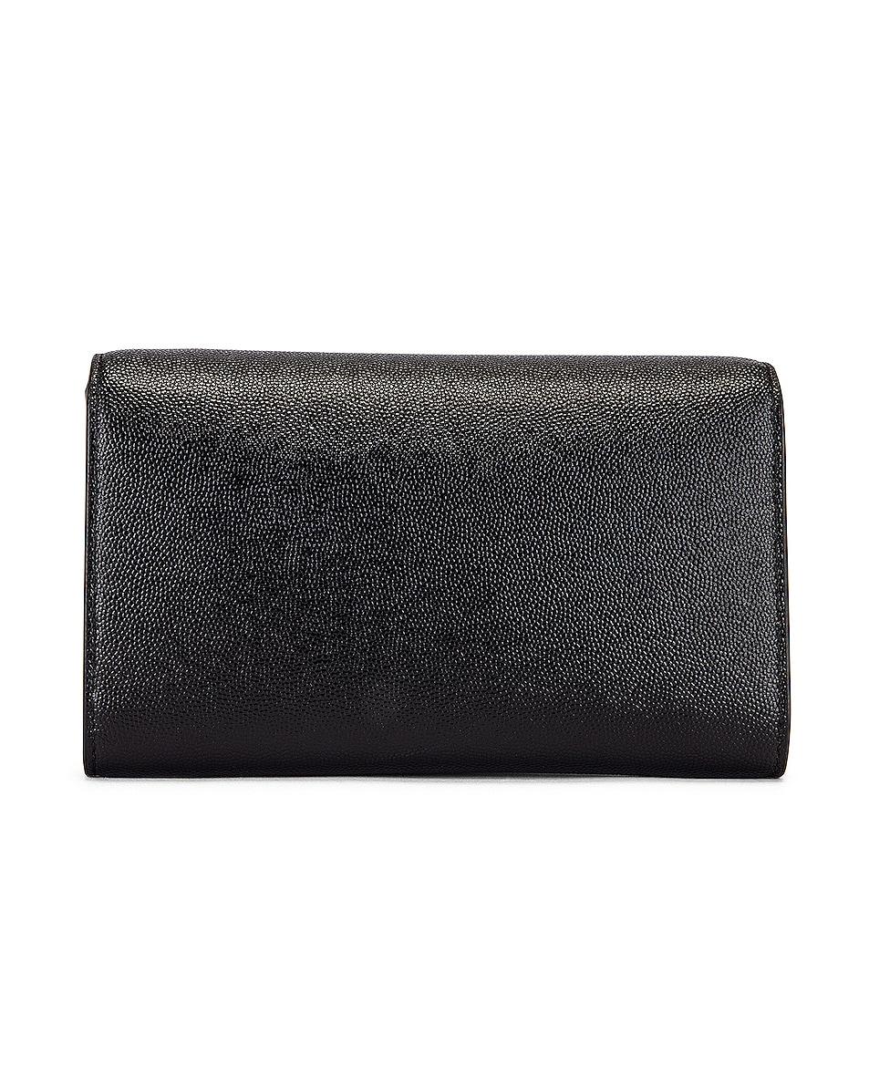 Image 3 of Saint Laurent Flap Chain Bag in Black