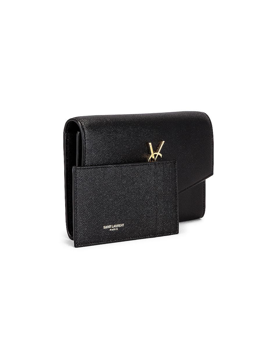 Image 4 of Saint Laurent Flap Chain Bag in Black