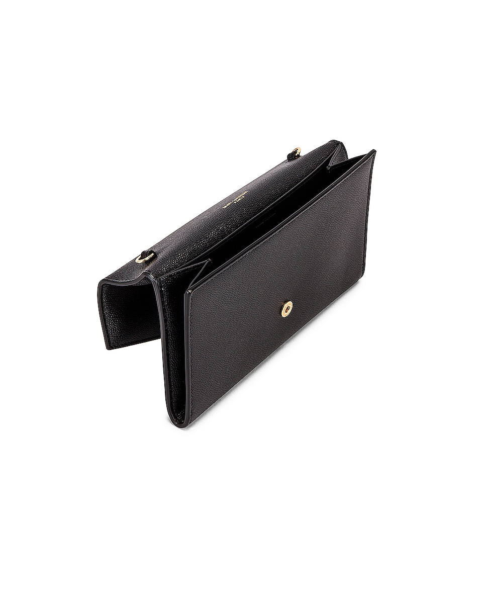 Image 5 of Saint Laurent Flap Chain Bag in Black