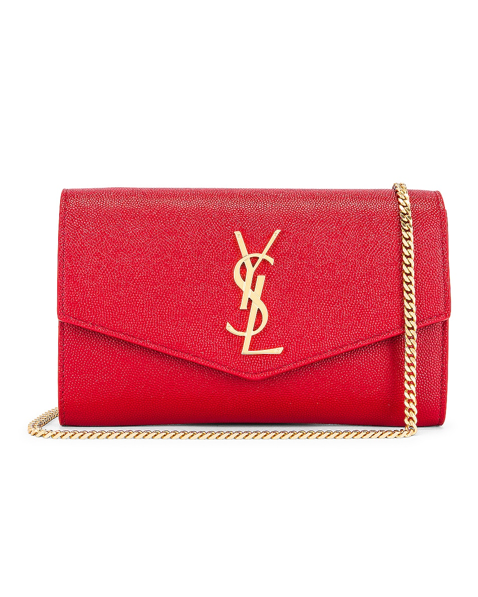 Image 1 of Saint Laurent Flap Chain Bag in Rouge Eros
