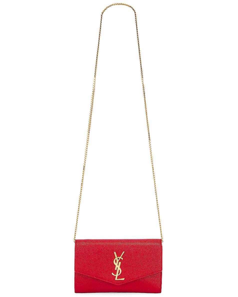 Image 6 of Saint Laurent Flap Chain Bag in Rouge Eros