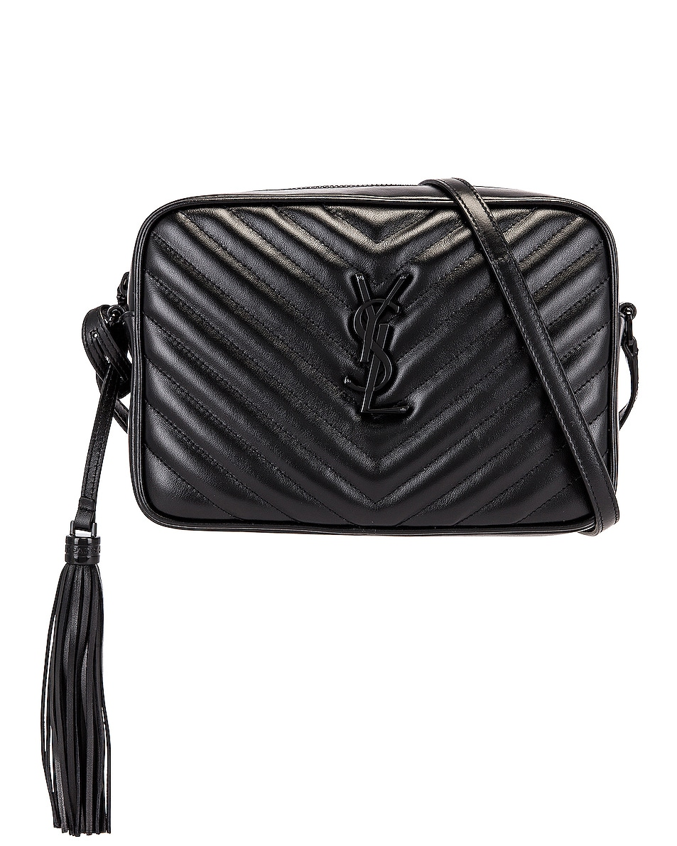 Image 1 of Saint Laurent Medium Lou Monogramme Bag in Black
