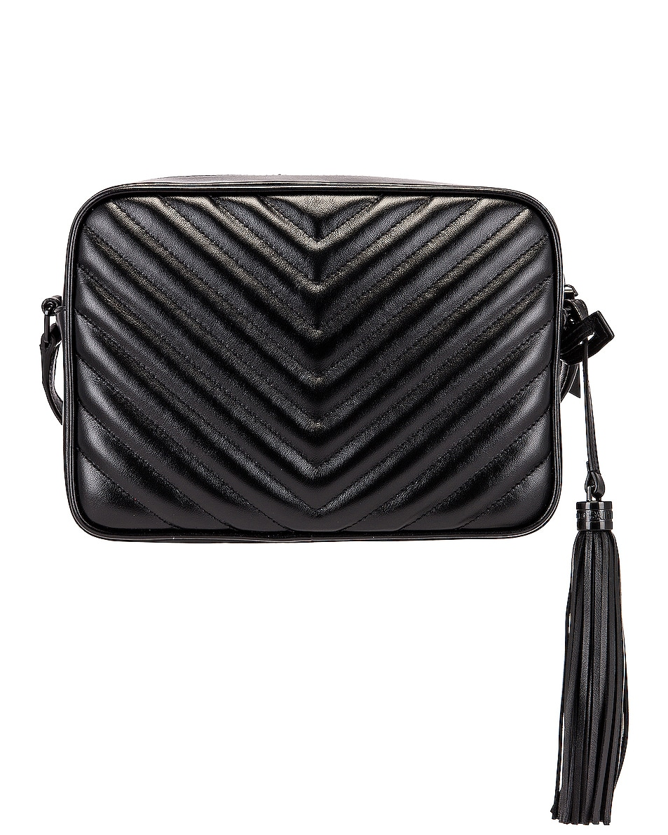 Image 3 of Saint Laurent Medium Lou Monogramme Bag in Black