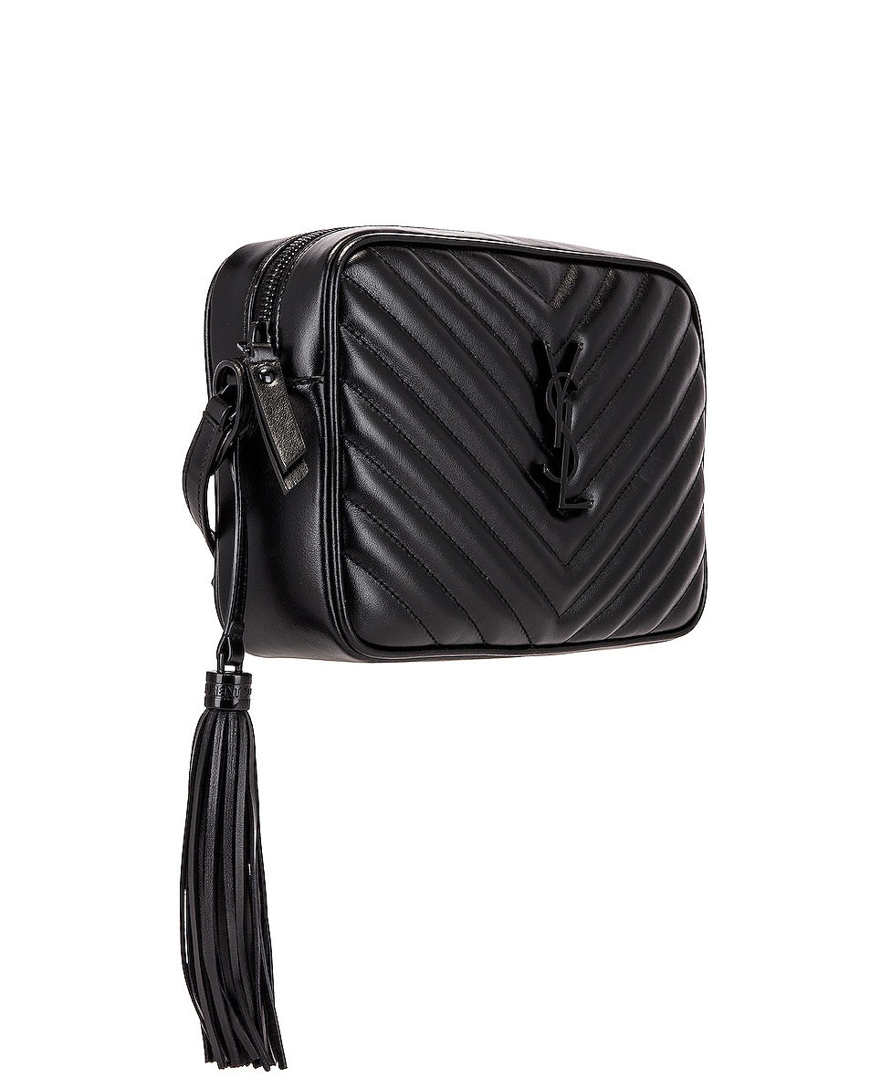 Image 4 of Saint Laurent Medium Lou Monogramme Bag in Black
