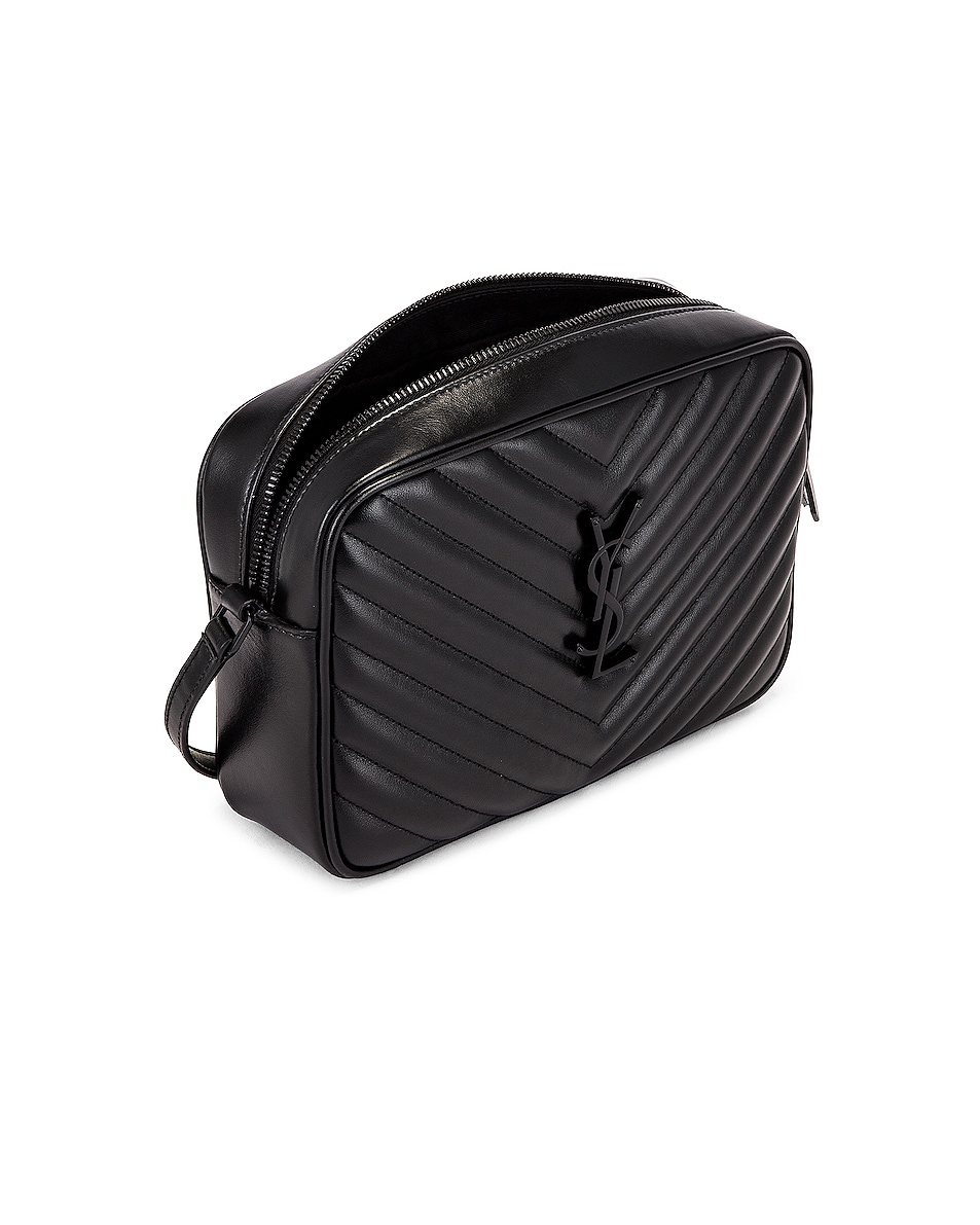 Image 5 of Saint Laurent Medium Lou Monogramme Bag in Black