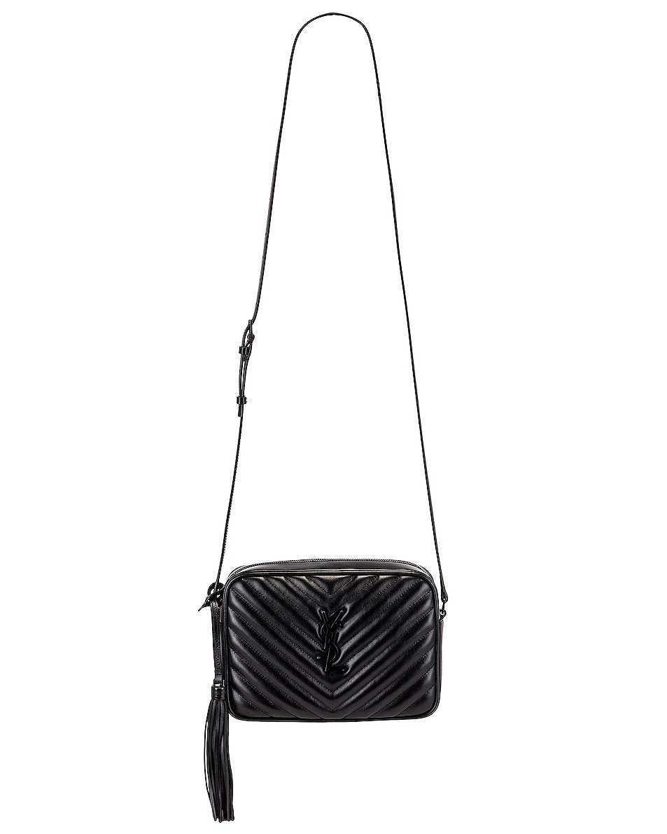 Image 6 of Saint Laurent Medium Lou Monogramme Bag in Black