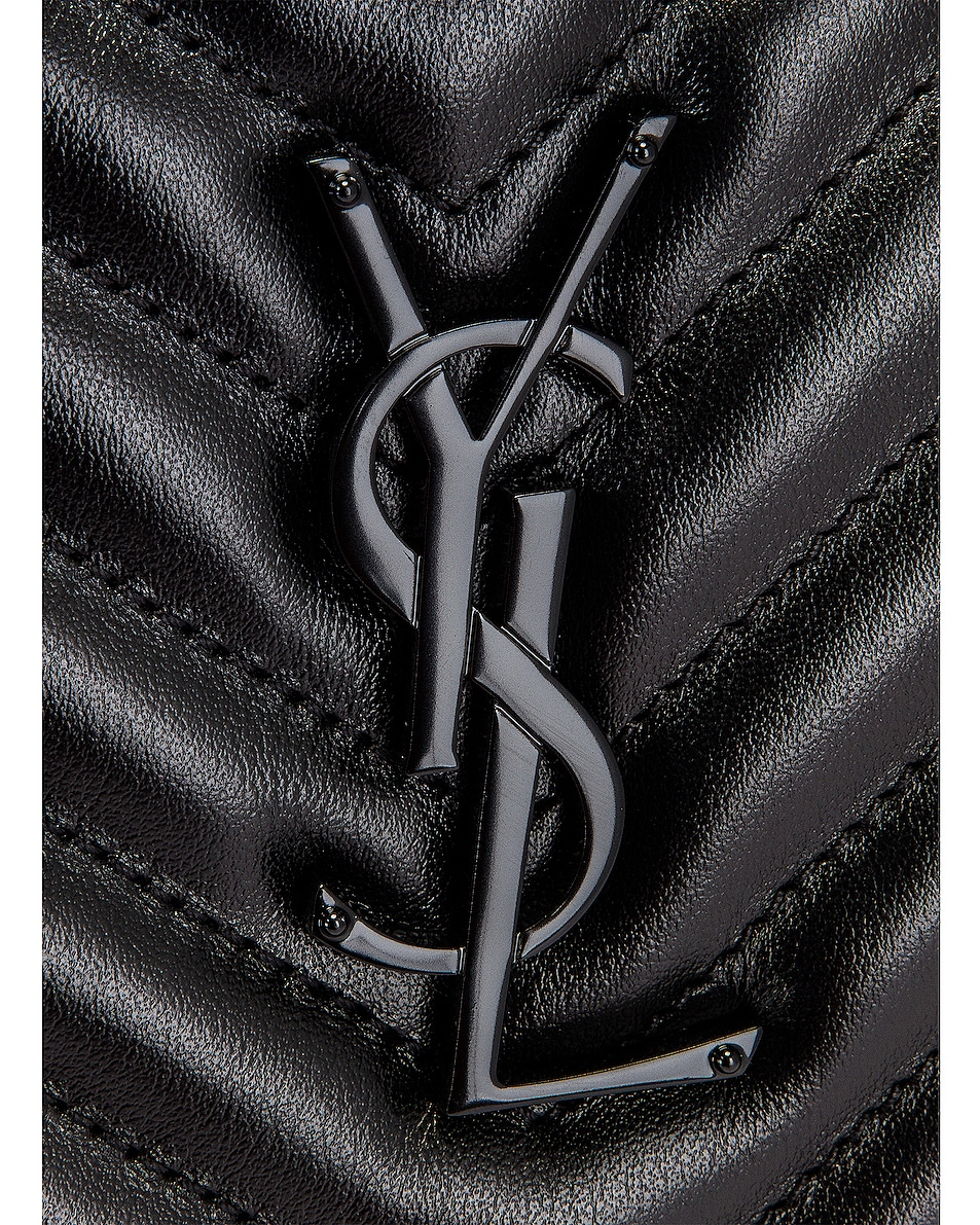 Image 8 of Saint Laurent Medium Lou Monogramme Bag in Black