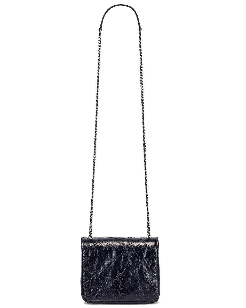 Image 6 of Saint Laurent Niki Chain Wallet Bag in Deep Marine
