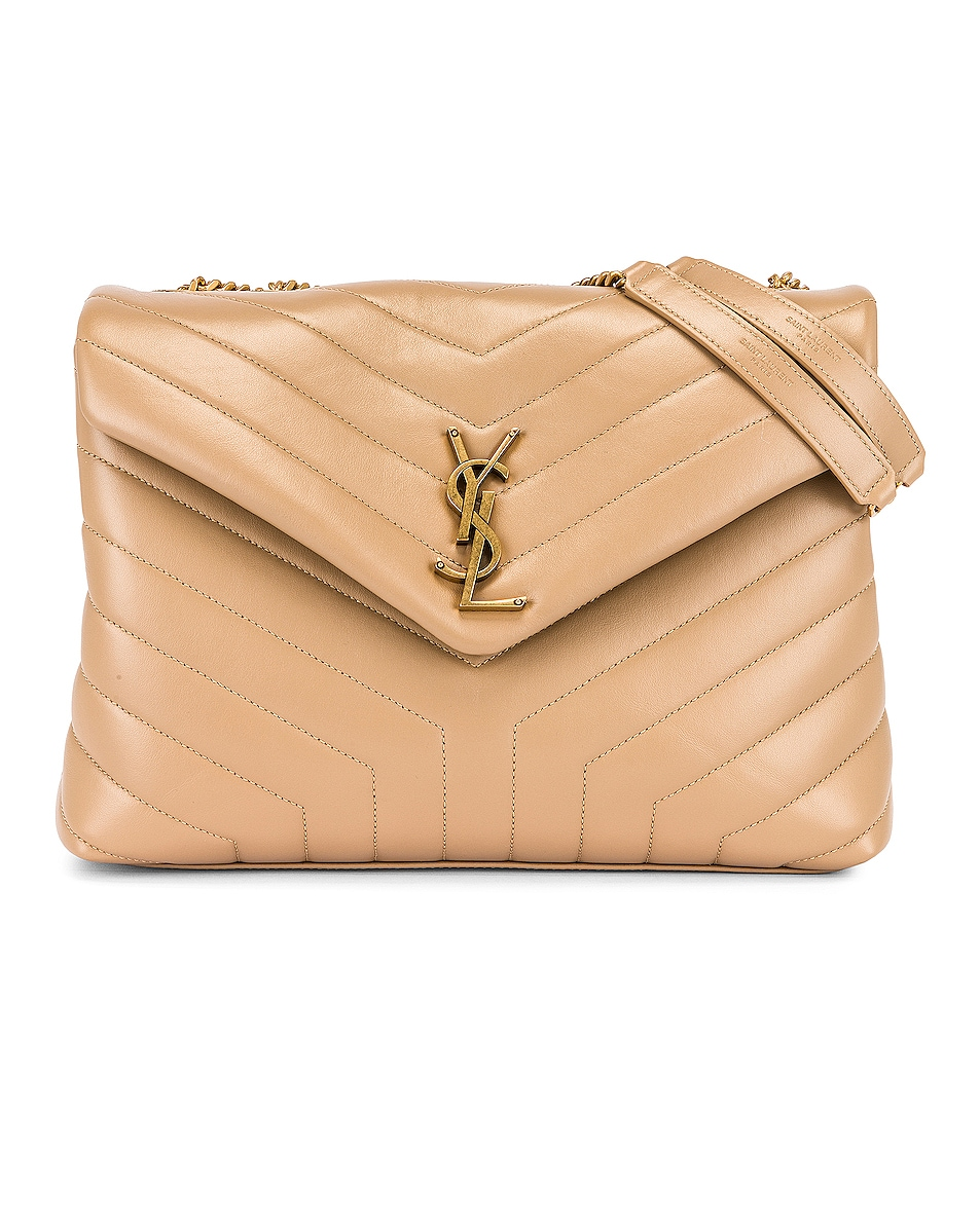 Image 1 of Saint Laurent Medium LouLou Monogramme Bag in Dark Latte