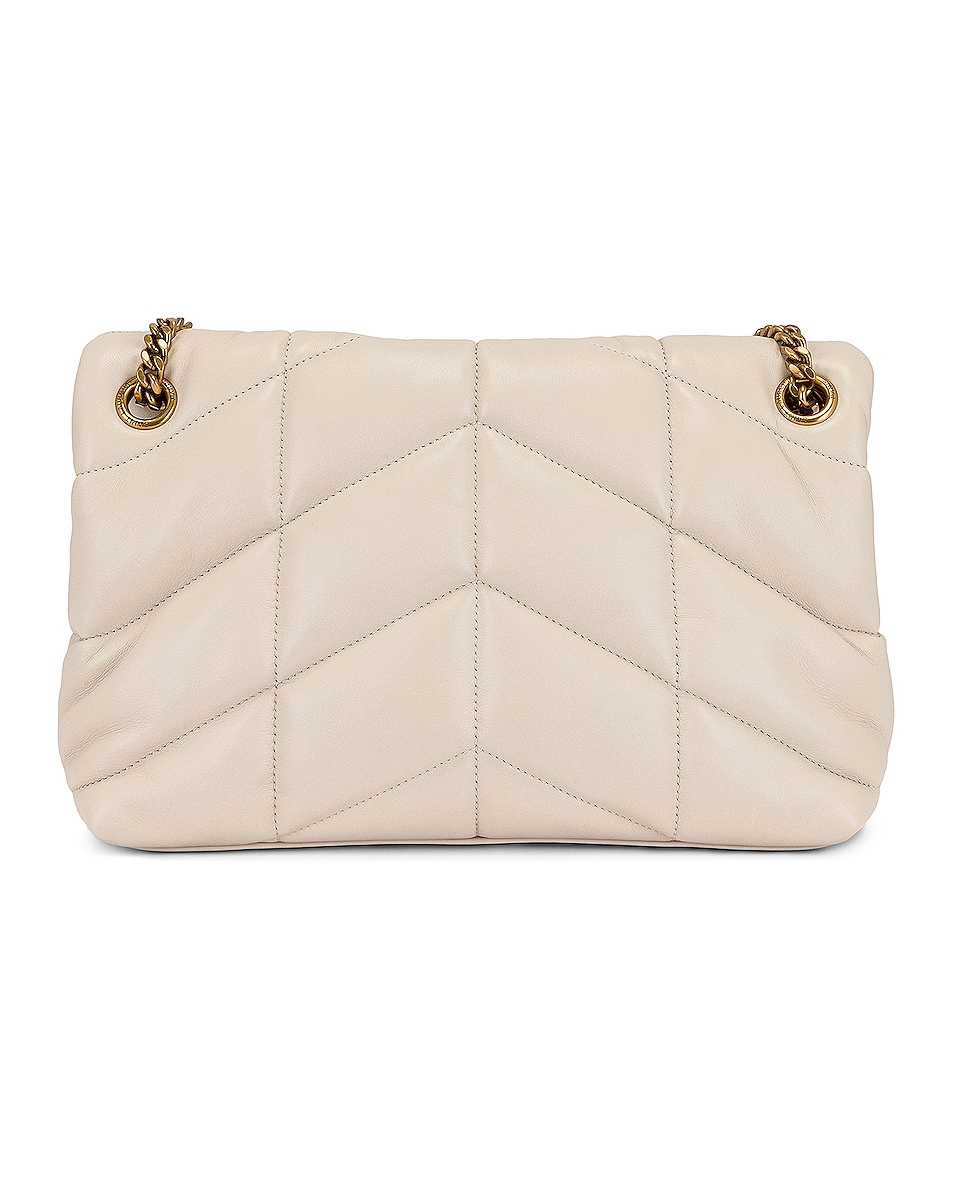 Image 3 of Saint Laurent Small LouLou Monogramme Bag in Crema Soft
