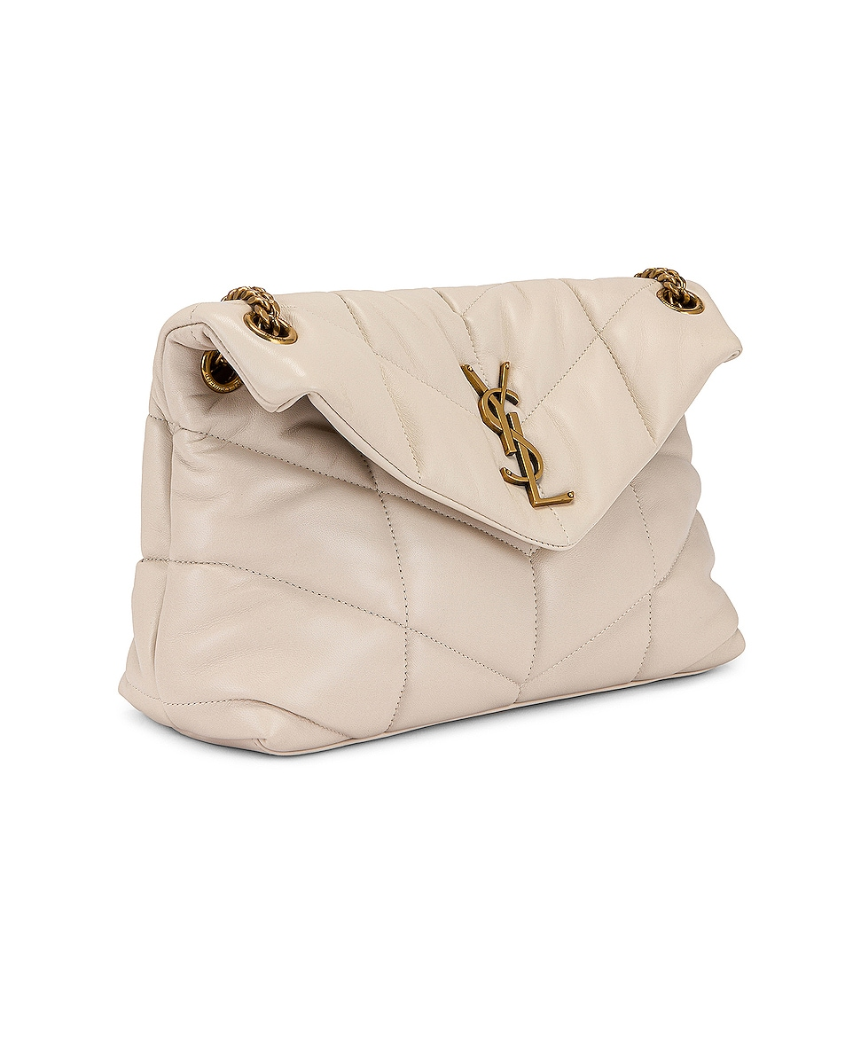 Image 4 of Saint Laurent Small LouLou Monogramme Bag in Crema Soft