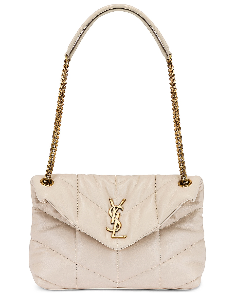Image 6 of Saint Laurent Small LouLou Monogramme Bag in Crema Soft