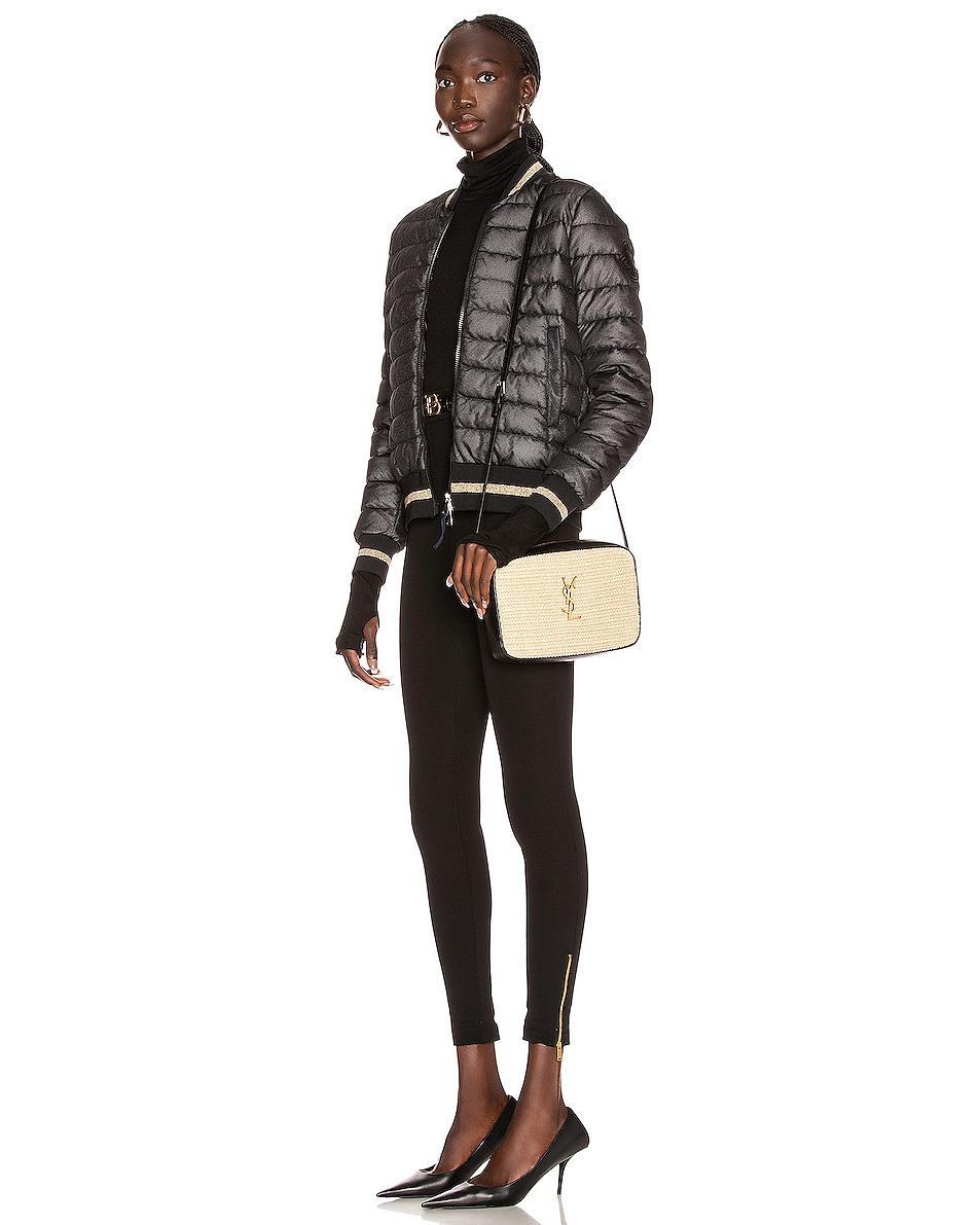 Image 2 of Saint Laurent Medium Lou Monogramme Bag in Natural & Black