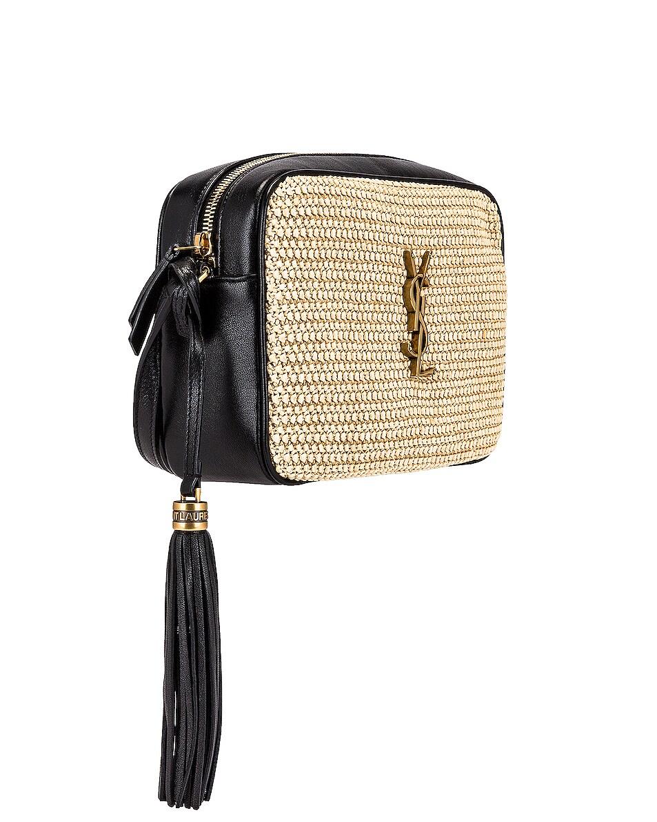 Image 4 of Saint Laurent Medium Lou Monogramme Bag in Natural & Black