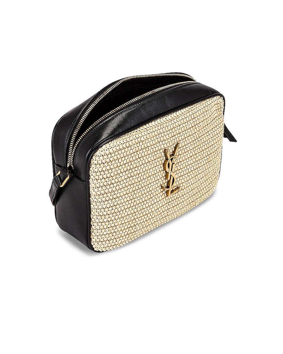 Image 5 of Saint Laurent Medium Lou Monogramme Bag in Natural & Black