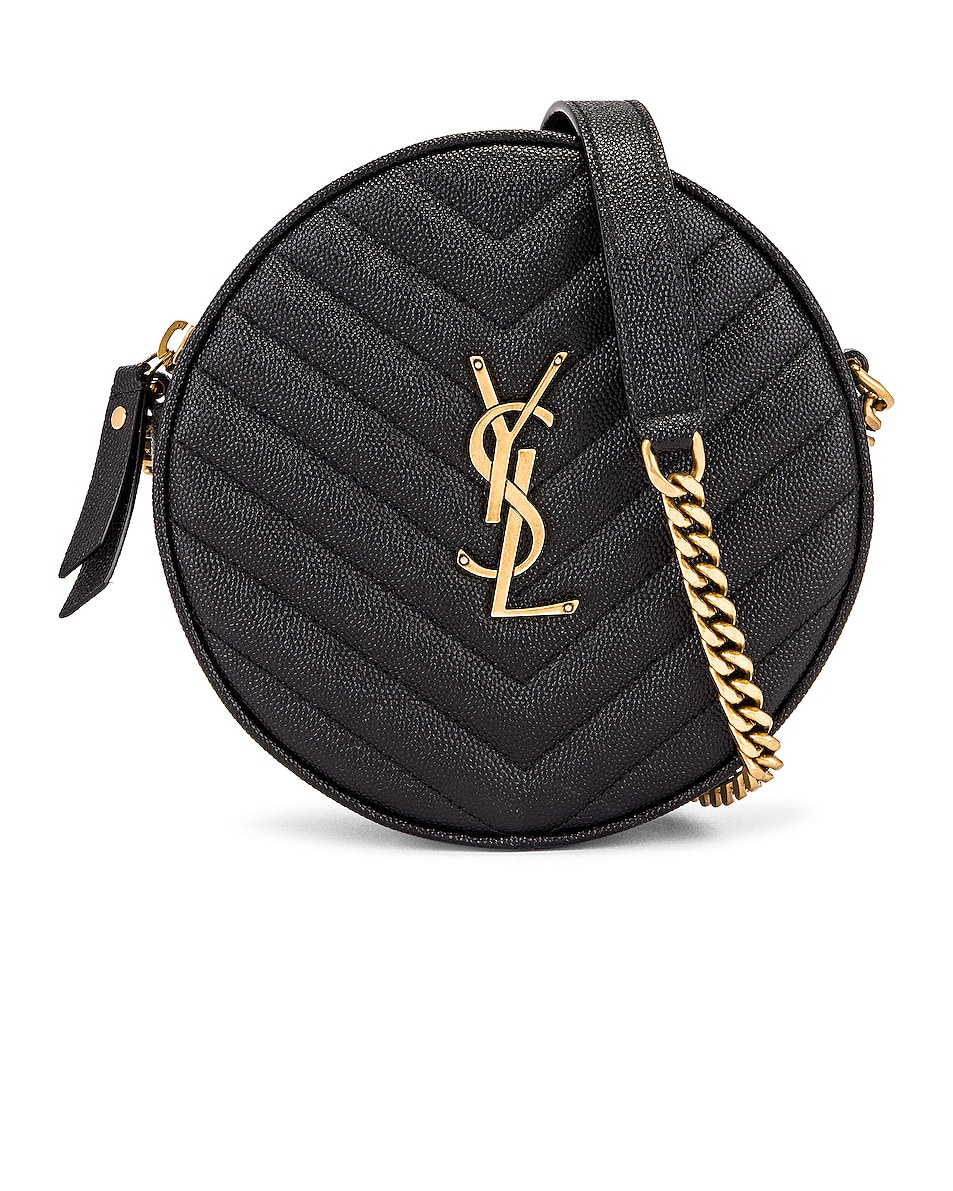 Image 1 of Saint Laurent Monogramme Round Bag in Black