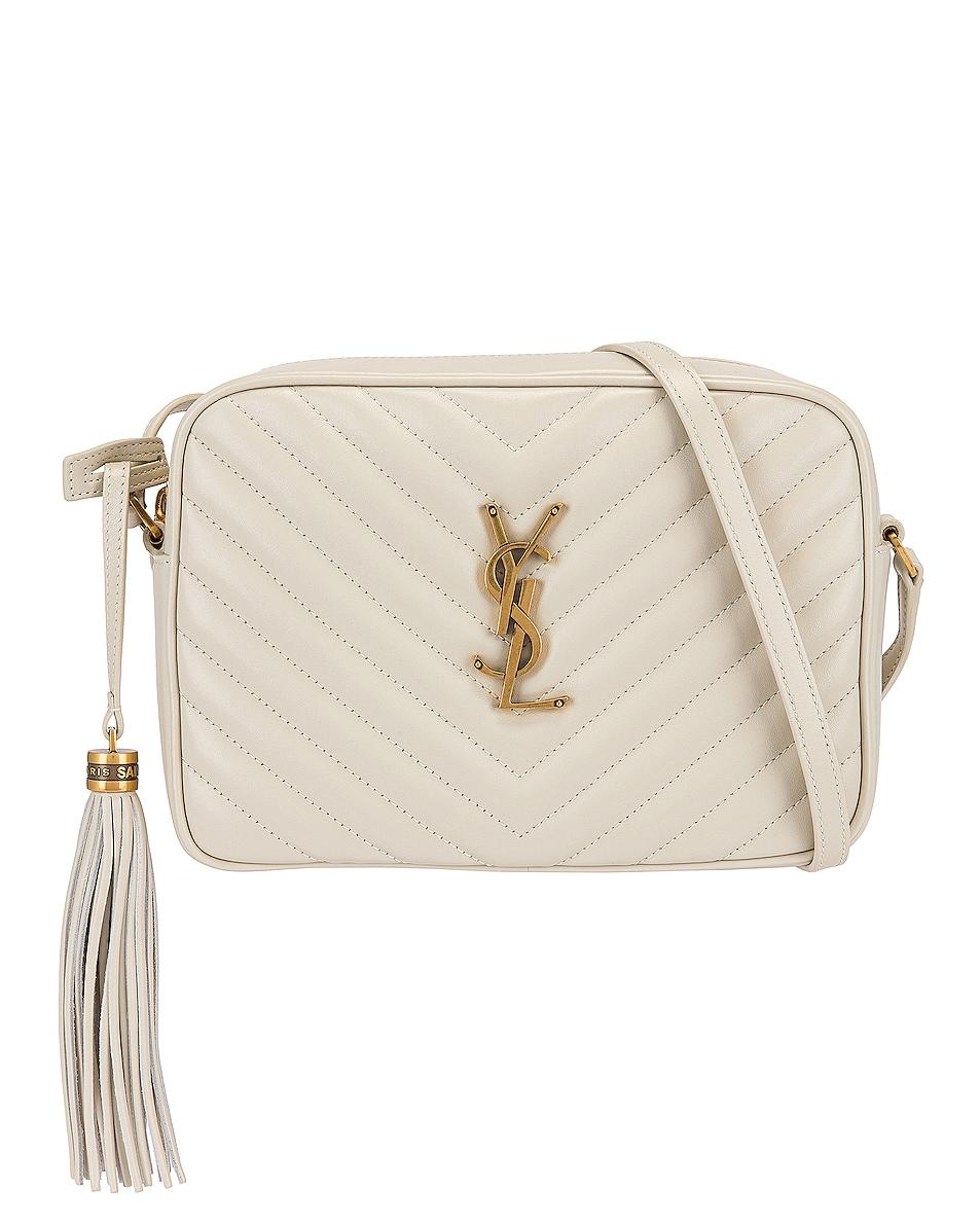 Image 1 of Saint Laurent Medium Lou Monogramme Bag in Crema Soft