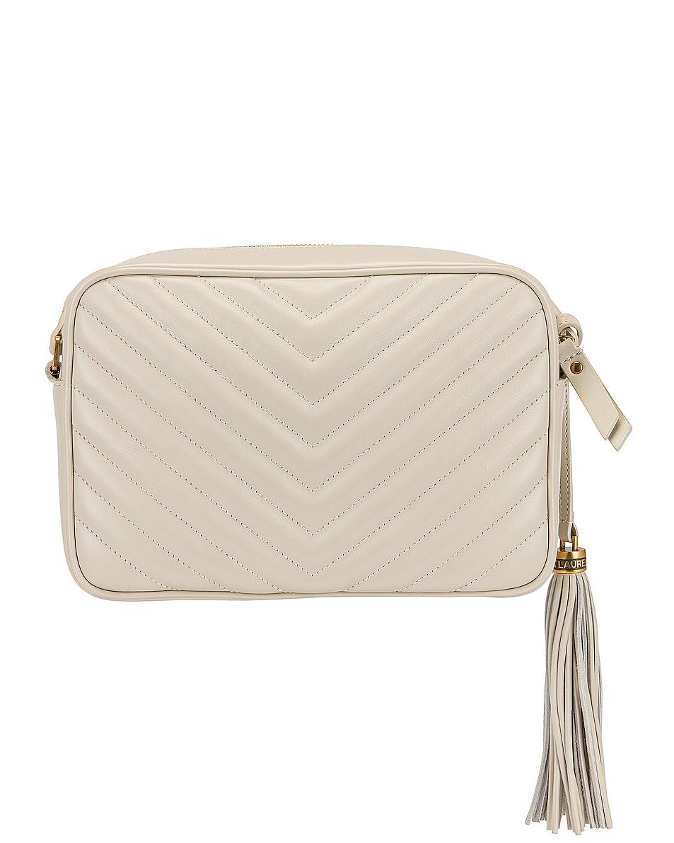 Image 3 of Saint Laurent Medium Lou Monogramme Bag in Crema Soft
