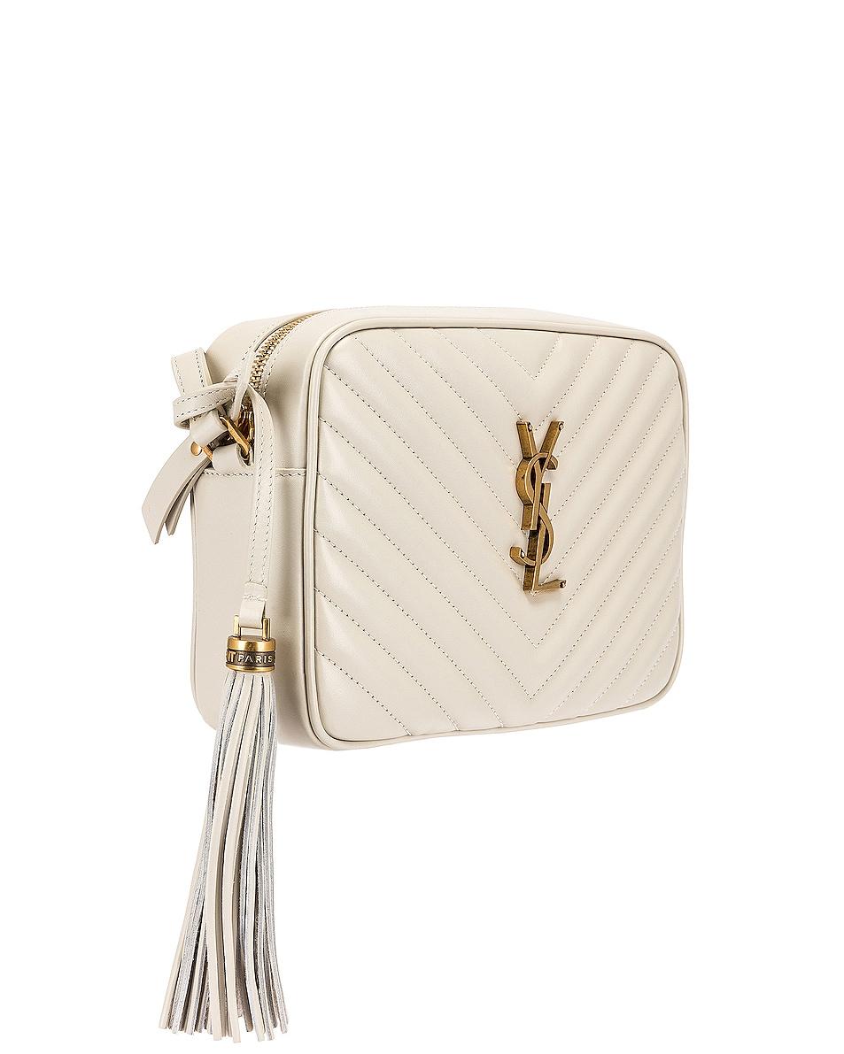 Image 4 of Saint Laurent Medium Lou Monogramme Bag in Crema Soft