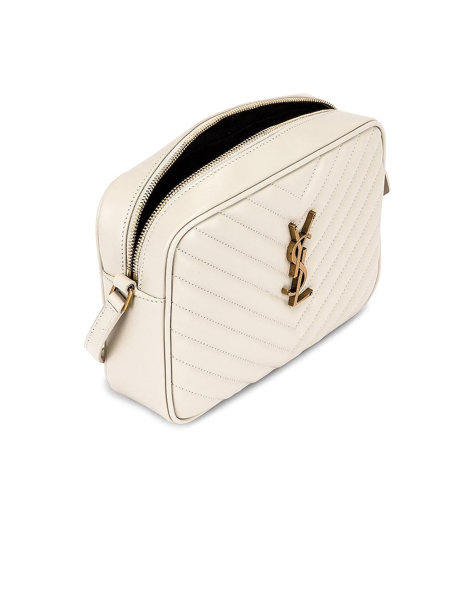 Image 5 of Saint Laurent Medium Lou Monogramme Bag in Crema Soft