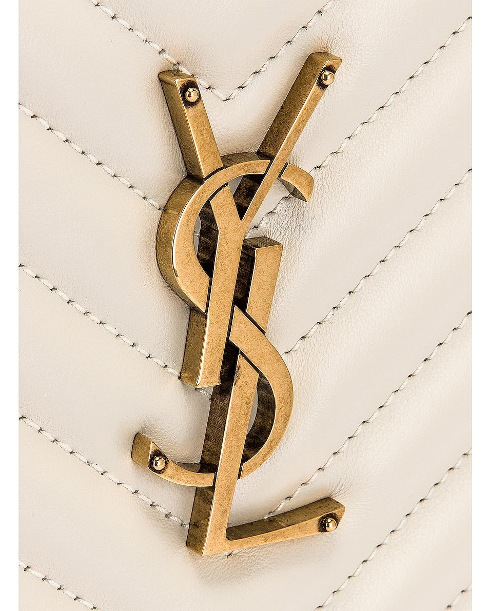 Image 8 of Saint Laurent Medium Lou Monogramme Bag in Crema Soft