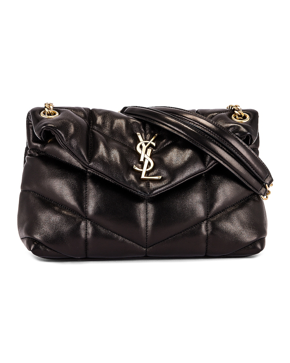 Image 1 of Saint Laurent Small LouLou Monogramme Bag in Black