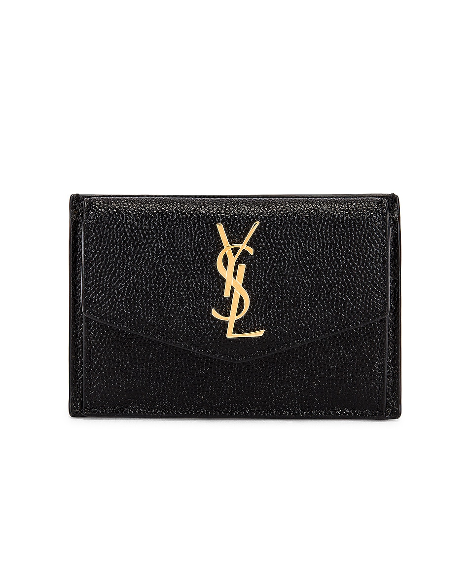 Image 1 of Saint Laurent Leather Wallet in Black