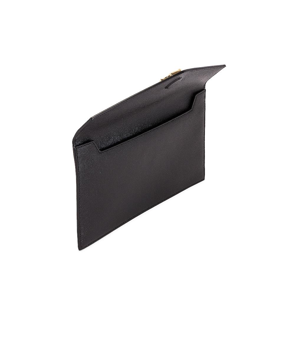 Image 5 of Saint Laurent Medium Clutch in Black